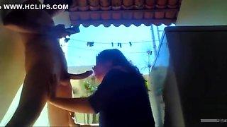 Dulce Colegiala Mexicana follando en el patio hasta recibir corrida interna