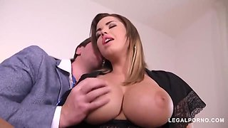 Slutty woman with big, firm tits is fucking her doctor and enjoying it a lot