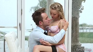 enchanting blondie staci carr fucks with passion on a rainy day