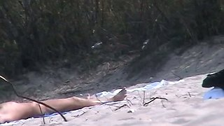 Beach candid camera filming unsuspecting nude girls