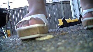 Mistress Crush doughnut crush not candid she seen it under my legs