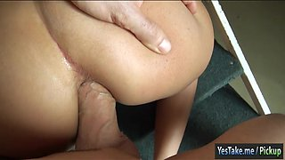 Skinny Czech girl Beth asshole pounded in exchange for cash
