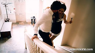 Gorgeous maid Tina Kay banged by her horny employer