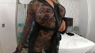 see-through dress teasing stepmom