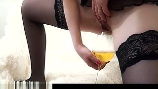 Licked cream off her feet & drank the golden nectar of the mistress. Fetish