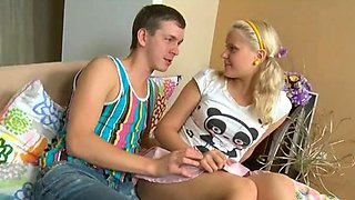 Striking russian blonde doll fucked well