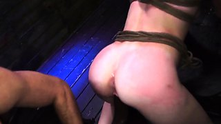 Extreme orgy and anal punishment He throws her in the back a