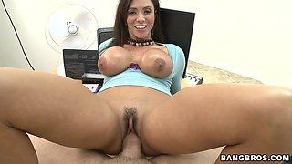 Ariella Ferrera Loves Big Cock Down Her Throat