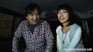 Hot and nasty car banging with a horny hot ass japanese milf
