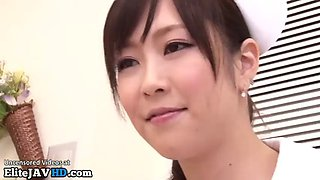 Japanese hot nurse takes care of her patient