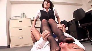 Hitomi Takase, Saki Hatsuki, Sana, Ryo Sena in Black Stockings Beautiful Legs OL part 4.2