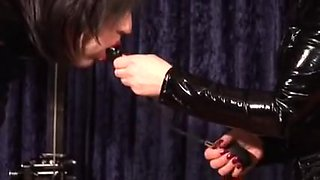 German Mastix Silvia trains her sissy maid