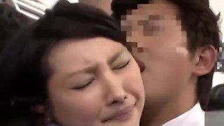 Azumi Mizushima slut fucked clothed in the bus