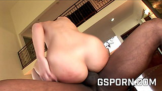 The wet ass of Jada Stevens is fucked hard by big black cock