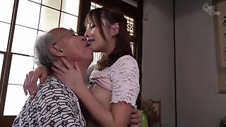 Beautiful Asian teen seduces an old man to satisfy her needs