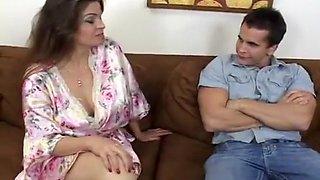 Erotic June Summers Fucks Young Stud