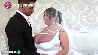 Busty bride fucking