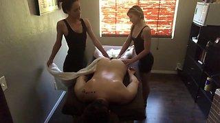 Four Handed Happy Ending Massage - Hidden Cam