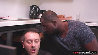 Double penetrated euro getting facialized