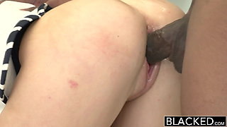 BLACKED 2 Big Black Dicks for Rich Girl Emily Kae
