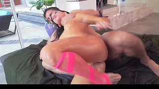 Oiled up anal dp whore