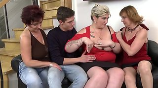 Mature busty mothers get taboo sex with sons