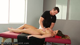 Awesome massage and missionary fuck with Brooklyn Chase and Eric Masterson