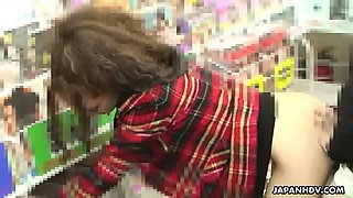 Public sex in a manga store with adventurous japanese gf