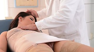 Horny doctor punishes lovely babe Lana