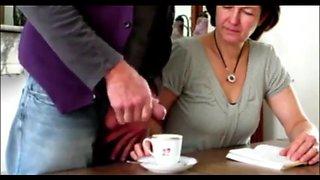 Cum in wife's coffee