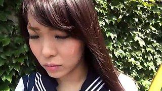 Pretty Japanese schoolgirl learns a lesson in hardcore sex