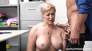 Short hair MILF Ryan Keely gets fucked from behind in the office