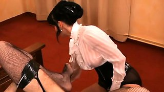 Female domination with mistress using castigation devices