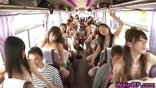 Crazy Asian babes are taking a bus tour part5