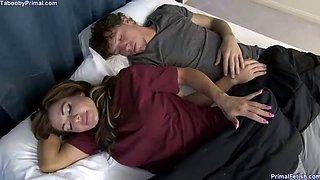 Sleeps with hot stepmom turns into sex
