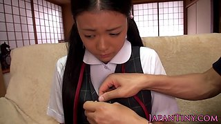 Petite japanese schoolgirl toyed and fucked