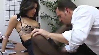 pantyhose secretary fuck