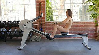 Fitness chick Lily Jordan gets her pussy fucked and licked at the gym