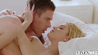 Romantic blonde babe, Kenna James had sex with her boyfriend's brother, in the middle of the day