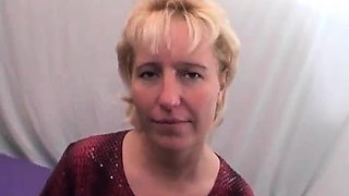 Blonde mature slut on audition
