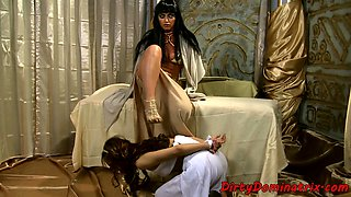 Lezdom empress dominates over her servant