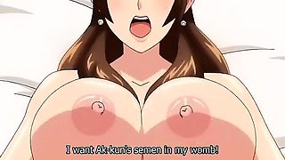 Horny romance anime clip with uncensored big tits, creampie
