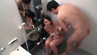 Asian stepsister fucked in the bathroom
