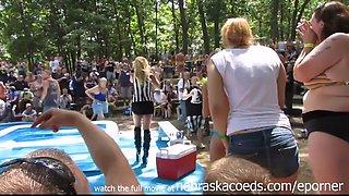 Chicago Amateurs Oil Wrestling At Nudist Resort