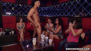 stripper get sucked into the crazy girls