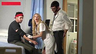 Hot Nurses help doctor gives sperm