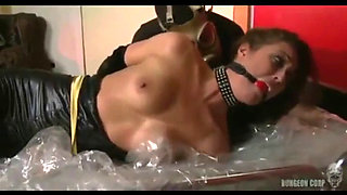Superheroine Catwoman Captured Bound and Humiliated