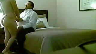 Fat boss fucks his Slutty secretary in hotel