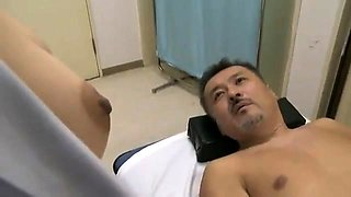 Sexy Asian doctor in uniform is starving for a deep drilling