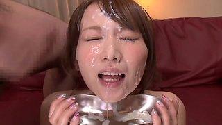 Hottest Japanese girl in Exotic HD, Bukkake JAV scene